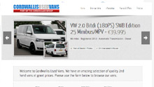 Cordwallis Used Van Website