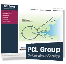 PCL Group modernise their web presence